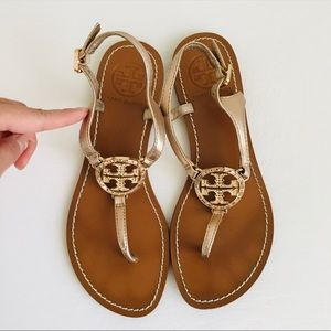 Tory Burch Rose Gold Thong Sandals Size 5M